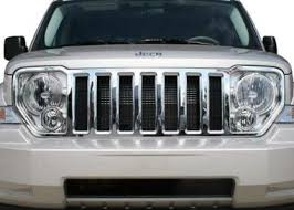 jeep liberty front bumper amazon com jeep liberty chrome front grille fits 2008 2009 2010
