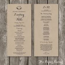 Wedding Programs Rustic Rustic Wedding Ceremony Program Floral By Xsimplymoderndesignx