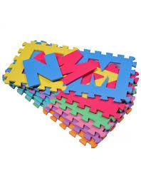 tappeti puzzle homcom tappeto puzzle gioco bambini 36 pezzi 26 lettere dell