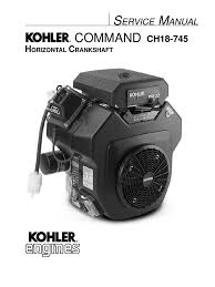 kohler ch26 service manual motor oil gasoline
