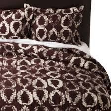amazon com nate berkus duvet cover u0026 shams set full queen brown