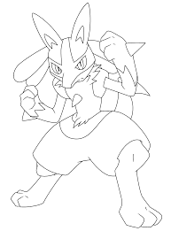 pokemon lucario coloring page free download