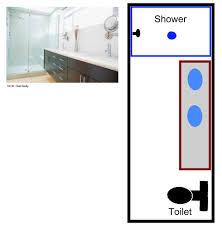 narrow bathroom floor plans 15 free sle bathroom floor plans small to large