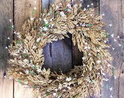 rustic wreath etsy