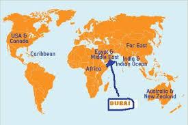 world map city in dubai dubai map world major tourist attractions maps
