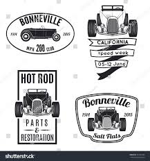 Classic Car Parts - vector set vintage rod car stock vector 297362444 shutterstock