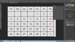 make a 2016 2017 2018 calendar with google excel photoshop youtube