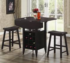 bar units and bar tables 3 piece drop leaf bar table and stool set