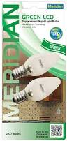 meridian electric 13121g led c7 replacement nightlight bulbs