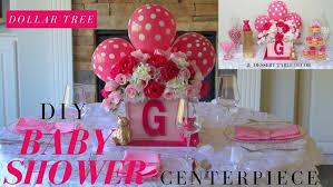 Diy Girl Baby Shower Ideas Dollar Tree Centerpiece Table