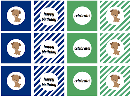 we heart parties free printables puppy dog party free printables