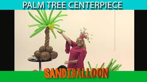 balloon palm tree centerpiece diy tutorial youtube