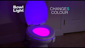 toilet light motion activated toilet light with 8 different colors youtube