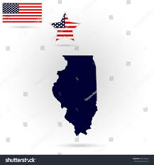 Illinois Us Map by Map Us State Illinois On Gray Stock Vector 591434423 Shutterstock