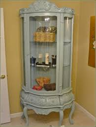 oxford black corner curio cabinet with light glass house of