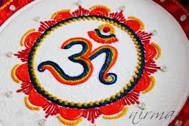 aum om pooja thali decorative henna mehndi design