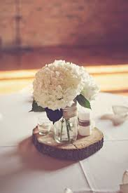 wood centerpieces diy hydrangea and wood centerpiece someday