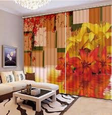 Orange Kitchen Curtains by Online Get Cheap Modern Kitchen Curtains Aliexpress Com Alibaba