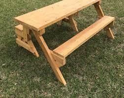 Folding Bench Picnic Table Folding Picnic Table Etsy