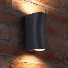 outdoor double wall light auraglow 14w outdoor double up down wall light aston grey