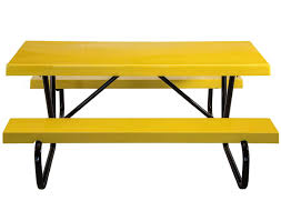 6 ft fiberglass picnic table with galvanized bolted frame