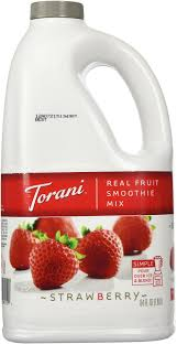 amazon com torani pina colada real fruit smoothie mix 64 oz