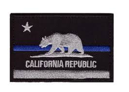Ca State Flag California Ca State Flag Thin Blue Line Police Tactical Swat Hook