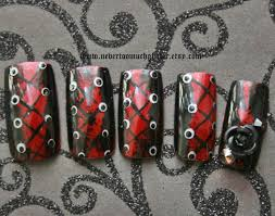 goth nail art gothic nail art wicked 3d goth press on nails
