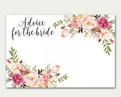 advice for the cards advice for the bridal shower advice card floral card