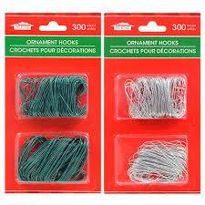 bulk house metal ornament hooks 300 ct packs at