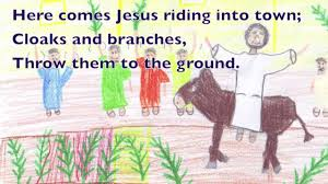 religious easter songs for children songs for palm sunday holy week and easter 1 cloaks and branches