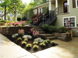 Retaining Wall Ideas For Sloped Backyard Download Front Yard Landscaping Ideas On A Slope Homeform