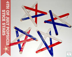4th of july popsicle stick stars kids crafts