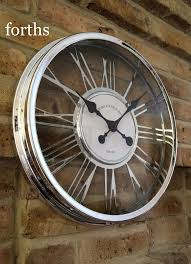 Shabby Chic Wall Clocks by Best Quality Chrome Effect Large Wall Clock Modern Shabby Chic New