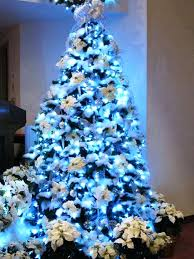 silver and white tree tree decorations blue silver white
