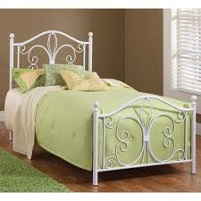 rhapsody iron bed in glossy white humble abode