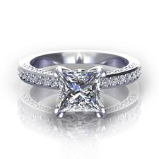 square cut engagement ring square cut wedding rings wedding corners
