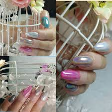 uñas de colores chrome holografico chrome colored nails