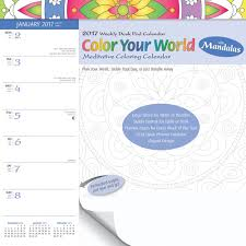 Small Desk Pad Color Your World Small Weekly 2017 Desk Pad 9781465084880