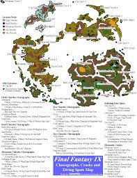 Final Fantasy 2 World Map by Final Fantasy Ix Chocograph Locations Map For Playstation By