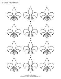 fleur de lis templates printable fleur de lis shapes