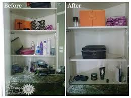 how to declutter bathroom cabinets u0026 closet shelves bathroom