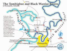tombigbee waterway map trip planner alabama scenic river trail