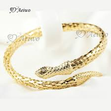 crystal snake bracelet images 18k yellow gold gf bangle made with swarovski crystal snake jpg