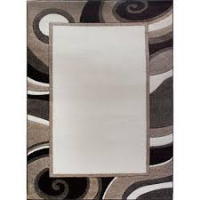 Cream And Grey Area Rug by Home Dynamix Bazaar Trim Hd2412 Ivory 7 Ft 10 In X 10 Ft 1 In