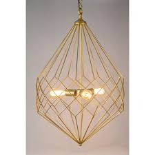 hicks pendant replica elegance meets geometry with this stunning goldtone wire pendant