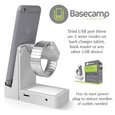 amazon com basecamp apple watch charger dock 3 charging usb