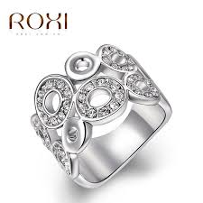 roxi s day gift classic luxury rings top quality genuine