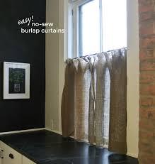 No Curtains Easy No Sew Burlap Curtains U2013 Burritos And Bubbly