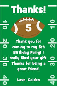 football thank you cards personalized party invites